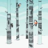 Scultura della foresta illustrazione di stock