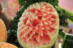 Scultura della frutta immagini stock libere da diritti
