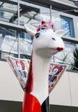 Scultura della giraffa a Christchurch Immagine Stock