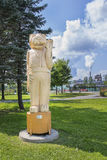 Scultura della mascotte del castoro di Foire Brayonne Fotografia Stock Libera da Diritti