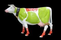Scultura della mucca dipinta Immagini Stock