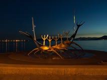 Scultura della nave di Viking Fotografia Stock Libera da Diritti