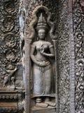 Scultura della parete di Angkor Wat Fotografia Stock