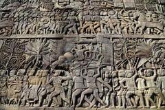 Scultura della parete di pietra di GUERRA fotografie stock