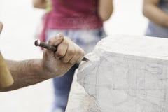 Scultura della pietra fotografia stock libera da diritti