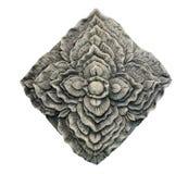Scultura della pietra del fiore Immagine Stock