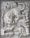 Scultura della pietra del tempiale. Immagini Stock