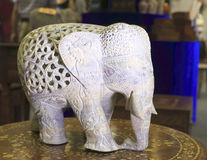 Scultura della pietra dell'elefante Fotografia Stock Libera da Diritti