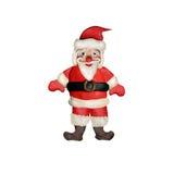 Scultura della rappresentazione di Santa Claus 3D della plastilina isolata su bianco Fotografia Stock