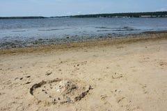 Scultura della sabbia, Bech Fotografia Stock
