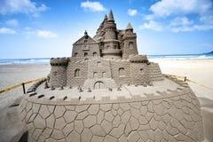 Scultura della sabbia del castello Immagine Stock Libera da Diritti
