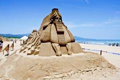 Scultura della sabbia del Pharaoh Fotografie Stock Libere da Diritti