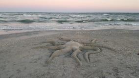 Scultura della sabbia del polipo Fotografia Stock