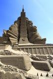 Scultura della sabbia della costruzione di Taipeh 101 Immagini Stock