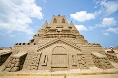 Scultura della sabbia della fortificazione Fotografia Stock