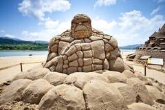 Scultura della sabbia di Stoneman Immagini Stock Libere da Diritti