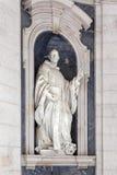 Scultura della st Bernard Italian Baroque immagini stock