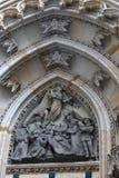 Scultura della st Vitus Cathedral del timpano Fotografia Stock Libera da Diritti