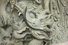 Scultura della testa del drago Fotografia Stock Libera da Diritti