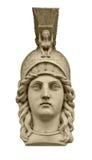 Scultura della testa di Atena della dea del Greco classico Fotografia Stock Libera da Diritti