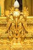 scultura della Tre-testa-elephent Fotografia Stock Libera da Diritti