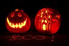 Scultura della zucca di Halloween Immagine Stock Libera da Diritti