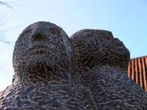 Scultura delle teste umane del granito Fotografia Stock Libera da Diritti