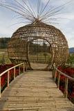 Scultura di bambù Immagini Stock Libere da Diritti