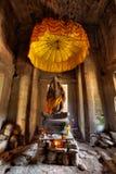 Scultura di Buddha a Angkor Wat Immagini Stock