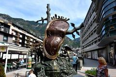 Scultura di Dali in Andorra Fotografie Stock Libere da Diritti