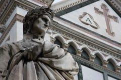 Scultura di Dante a Firenze Immagini Stock Libere da Diritti