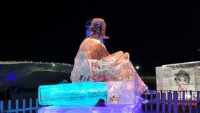 Scultura di festival del ghiaccio di Harbin Immagine Stock