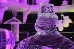 Scultura di ghiaccio Bruges 2013 - 02 Fotografia Stock Libera da Diritti