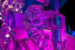 Scultura di ghiaccio del Michael Jackson   Fotografia Stock