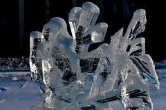 Scultura di ghiaccio di un drago Fotografie Stock Libere da Diritti
