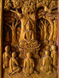 Scultura di immagini di Buddha Immagini Stock Libere da Diritti