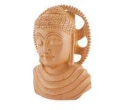 Scultura di legno del Buddha - lasciata immagine stock libera da diritti