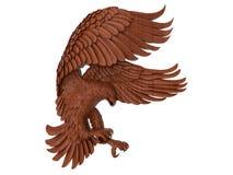 Scultura di legno dell'aquila illustrazione vettoriale