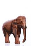 Scultura di legno dell'elefante Fotografia Stock Libera da Diritti