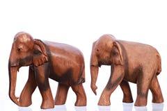 Scultura di legno dell'elefante Immagini Stock Libere da Diritti