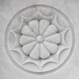 Scultura di marmo del fiore immagini stock