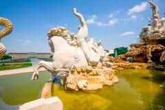 Scultura di marmo Rider In Vienna fotografia stock libera da diritti