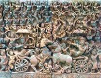 Scultura di pietra antica in Tailandia Immagini Stock Libere da Diritti