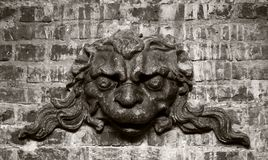 Scultura di pietra araldica medievale Fotografie Stock