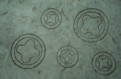 Scultura di pietra circolare fotografia stock