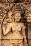 Scultura di pietra del ballerino di Apsara Immagini Stock