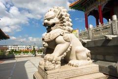 Scultura di pietra del leone Immagini Stock Libere da Diritti