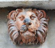 Scultura di pietra del leone a Venezia, Italia Fotografia Stock