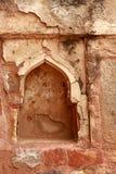 Scultura di pietra del modello decorativo in Qutub Minar nuovo Delh Immagine Stock