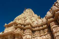 Scultura di pietra del tempio Jain di Taranga Fotografie Stock